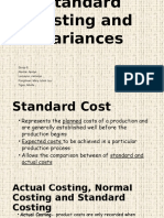 Group 6 Standard Cost and Variances