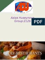 presentation about restaurants