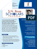 SN Bose Scholars Program Flyer (2016)