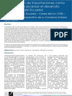 La Sustitución de importaciones como política para alcanzar el desarrollo económico del Ecuador