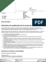 Correa Distribucion. Motor RHY