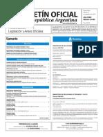 Boletín Oficial de la República Argentina, Número 33.463. 16 de septiembre de 2016