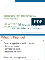 Lecture 1 (Overview of Financial Management)