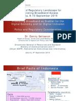 2015 Sep ITU Regional Workshop on Policy and Regulatory Landscape v2
