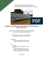 Avaliação de Qualidade de Energia de Um Sistema Fotovoltaico Numa Rede Elétrica