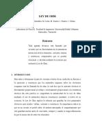 Informe de Fisica II (Ley de Ohm)
