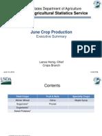 June Crop Production