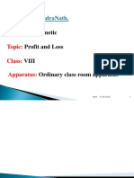 lesson plan profit and loss class 7th