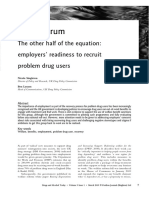 Article - Employers' Readiness to Recruit Problem Drug Users