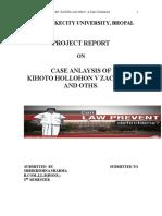 Case Analysis of the Case of Kihoto Hollohon