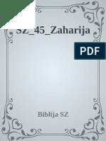 Stari Zavjet, 45, Zaharija - Biblija SZ
