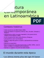 Literatura Contemporánea en Latinoamérica
