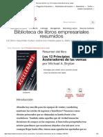 Resumen Del Libro 'Los 12 Principios Aceleradores de Las Ventas'