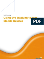 Using Tobii Eye Trackers For Tracking Mobile Devices