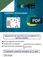 Quimica Analitica 1 - Equilibrio Heterogéneo