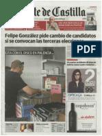 El Norte de Castilla 10 de septiembre.III Feria del Disco de Palencia