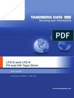 User guide for Lto-4 Lto-5 Tandberg Tape Drives