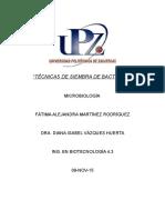 Técnicas de SieTÉCNICAS DE SIEMBRA DE BACTERIASmbra de Bacterias