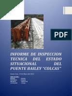 Informe de Inspeccion Tecnica del Esatdo Situacional del Puente Bailey Colcas