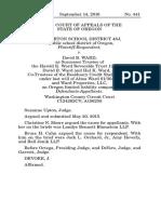 Beaverton School Dist. 48J v. Ward, No. 441 (Or. App. Sep. 14, 2016)