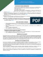 Requisitos de Ingreso a Las Actividades de POSGRADO COMPLETO