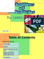Yvonne Scarengella Powerpoint[2] Family Problems and Problem Families