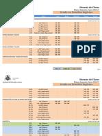 Horario de Clases Semestre 1 e. Ingleses 2016-17