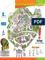 Six Flags Kentucky Kingdom Theme Park Map