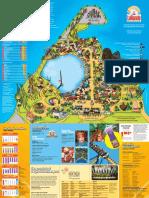 Six Flags La Ronde Theme Park Map