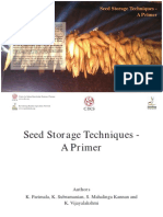 3. Seed Storage Techniques - A Primer