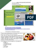 Actividades 2º ESO Bilingüe Pure and Mixed Substances