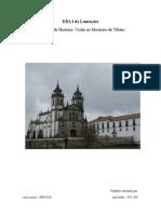 relatório mosteiro de Tibães