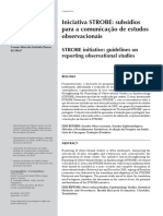 STROBE Translation Portuguese Commentary Malta RevSaudePublica 2010 Checklist