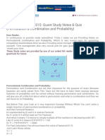 Permutation & Combination and Probability)