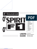 spirit f1 manual