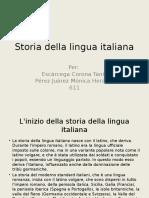 Storia Della Lingua Italiana 1