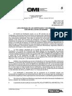 MEPC.1-Circ.769 - Lista Revisada De Los Certificados Y Documentos Que Han De Llevar Los Buques (Secretar+¡a)