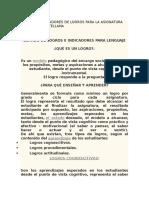 Logros e Indicadores de Logros Para La Asignatura de Lengua Castellana