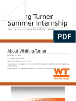 Whiting-Turner Internship Presentation