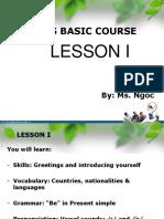 Lesson 1-IELTS Basic