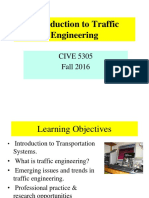 Week 1 Introduction to Traffic Engineering