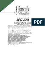 Season at a Glance