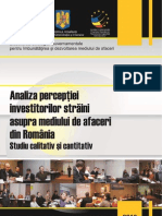 Studiul 5 Strategia Dma Perceptia Investitorilor Straini