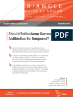 Triangle Insights - Should Antibiotics Enthusiasm Be Tempered