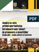Studiul 7 Strategia Dma Analiza Ex Ante Investitii
