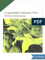 Tierra Humana - Pramoedya Ananta Toer