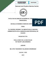 EL CONTROL INTERNO Y SU IMPACTO EN LA GESTION ADMINISTRATIVA EN LA MUNICIPALIDAD.pdf