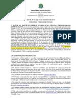 Edital 001 2016 Do Concurso Publico Do Ifes