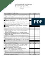 grade 3 techskills checklist