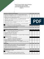 grade 4 techskills checklist